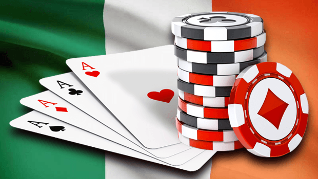 cards, flag and chips